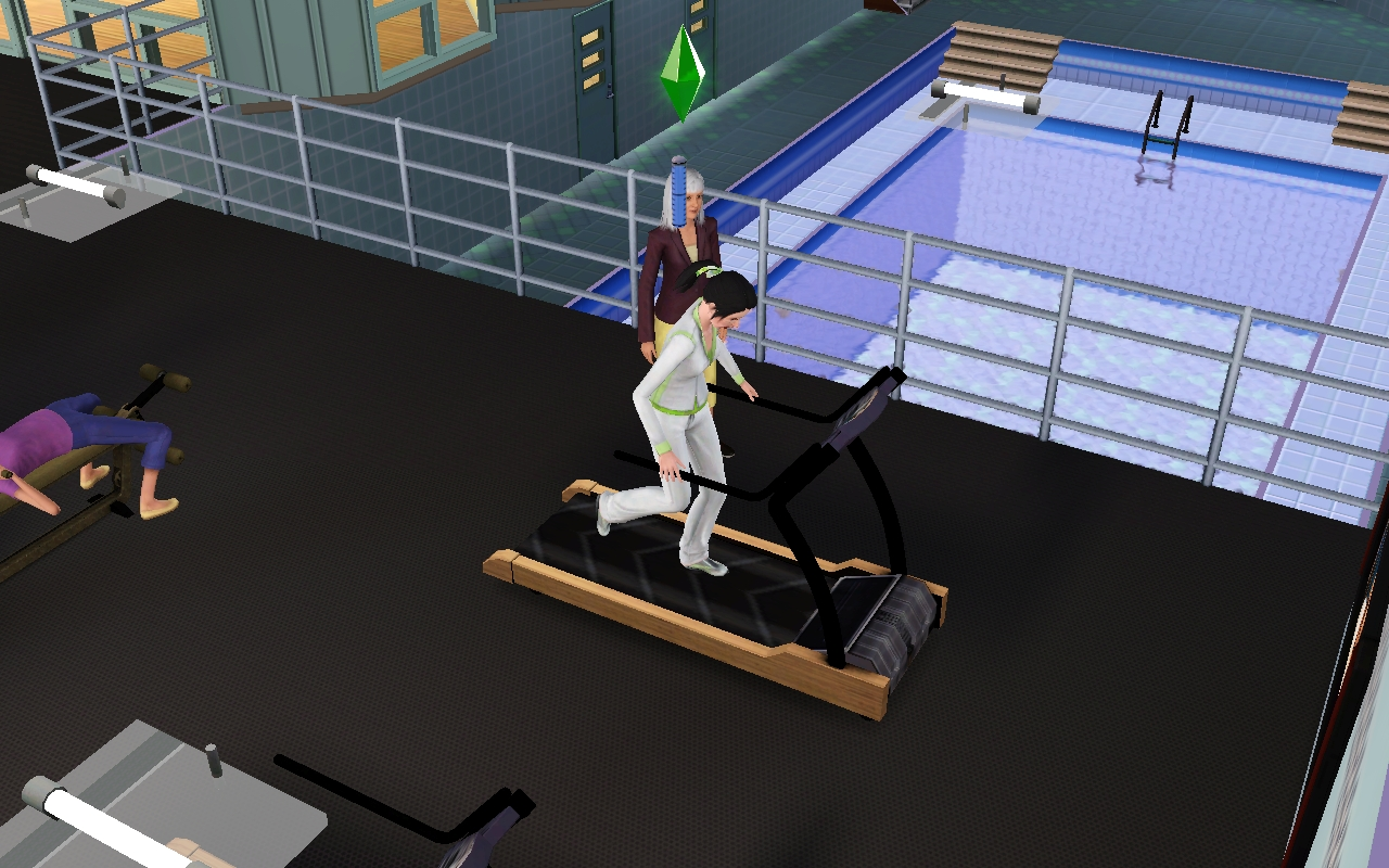 Carrie working out